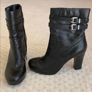 Bandolino 4 inch heeled leather booties